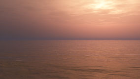 Relaxing Sunset Background. Minimalist but beautiful and detailed with long deep horizon and mystical moody atmosphere ideal for music album and book cover Royalty Free Stock Images