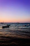 Relaxing Sunset Bay Royalty Free Stock Photos