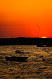 Relaxing Sunset Bay Stock Photography