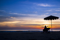 Relaxing sunset Royalty Free Stock Photo