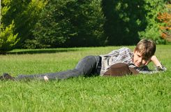 Relaxing in the sunshine Stock Photography