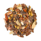 Relaxing tea Choco Spice. Blend raw isolated on pure white Stock Image