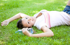 Relaxing teenager Royalty Free Stock Image