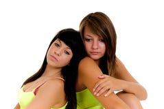 Relaxing teenager girls Stock Photos