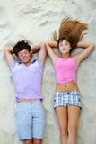 Relaxing teens Stock Image
