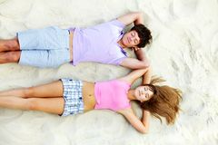 Relaxing teens Stock Images