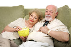 Relaxing With Television Royalty Free Stock Photo