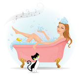 Relaxing time. royalty free illustration