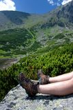 Relaxing Time In Mauntains Stock Photography