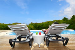 Relaxing time under the tropics Royalty Free Stock Photography