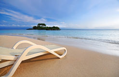 Relaxing on tropical beach Stock Image
