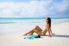 Relaxing tropical beach vacation Stock Images