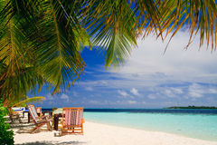 Relaxing on tropical paradise Royalty Free Stock Photos