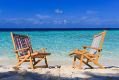 Relaxing on tropical paradise Stock Image