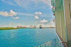 Caribbean Tropical Cruise Travel Vacation Stock Images