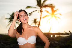 Relaxing tropical vacation sunrise Stock Photography