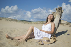 Relaxing under the sun Stock Images