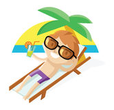 Relaxing in vacations Stock Photo