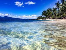 Relaxing view of Cebu Island cost from the cristal water stock images