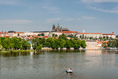 Relaxing view to Prague Castle Royalty Free Stock Images
