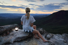 Relaxing views in the Blue Mountains Australia Royalty Free Stock Image