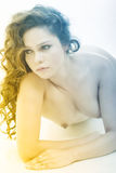 Relaxing and voluptuous nude Royalty Free Stock Photography