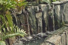 Relaxing Water Fountain in Garden royalty free stock photos