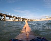 Relaxing in the water at Semaphore Beach Royalty Free Stock Photography