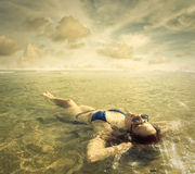 Relaxing in the water Royalty Free Stock Image