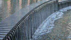 Relaxing waterfall fountain. Clean water falling. stock footage