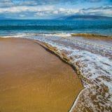 Maluaka Beach. Relaxing waves at Maluaka Beach on a sunny day, Maui, Hawaii Stock Photography