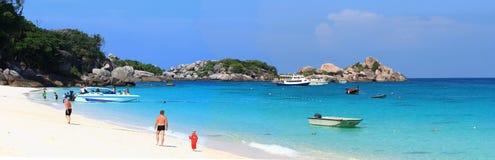 Relaxing white sand beach Stock Photo