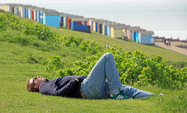 Relaxing at whitstable Royalty Free Stock Image