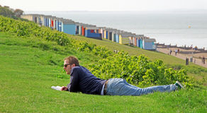 Relaxing at whitstable Stock Photo