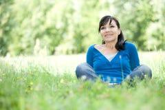 Relaxing woman Stock Photos