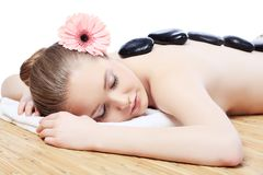 Relaxing woman Royalty Free Stock Images