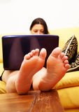 Relaxing woman Stock Photography