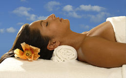 Relaxing woman Royalty Free Stock Photo