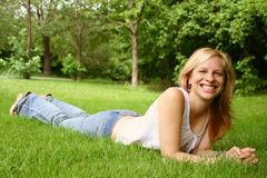 Relaxing woman Royalty Free Stock Photos