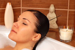 Free Relaxing Woman In Bath Stock Image - 4583941