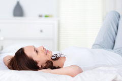 Relaxing woman Stock Images