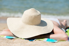 Relaxing woman Royalty Free Stock Image