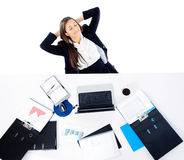 Relaxing at work Royalty Free Stock Photos