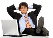 Relaxing at work Royalty Free Stock Photo