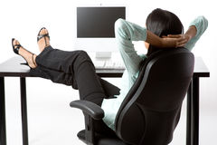 Relaxing At Work Stock Image