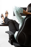 Relaxing At Work Stock Photo