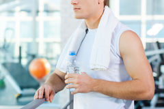 Relaxing after work out. Royalty Free Stock Image