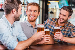 Relaxing after work. Royalty Free Stock Image