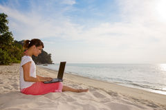 Relaxing and working Royalty Free Stock Photo