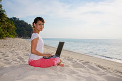 Relaxing and working Stock Photos